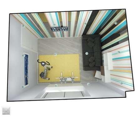 Тренажерная: Тренажерные комнаты в . Автор – Burkov Studio