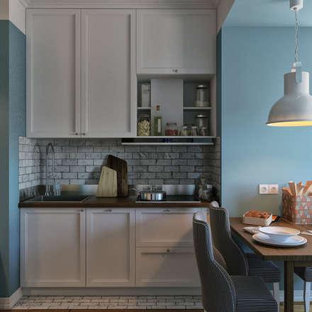 дизайн квартиры 60м2 г. Санкт-Петербург: Кухни в . Автор – sreda