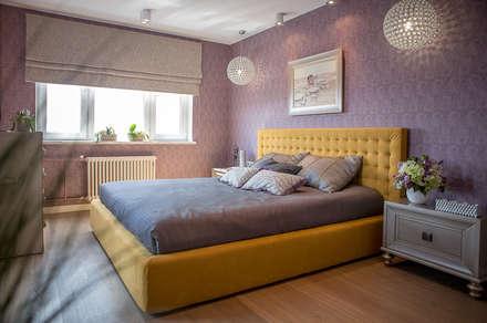 Квартира в Москве 100м2 (дизайнер Мария Соловьёва-Сосновик): Спальни в . Автор – Фотограф Анна Киселева