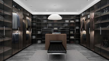 غرفة الملابس تنفيذ Citlali Villarreal Interiorismo & Diseño