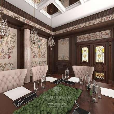 Palacios de congresos de estilo  de Студия дизайна интерьера Руслана и Марии Грин