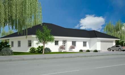 Bungalow Strasse: moderne Häuser von Siegerland Massivhaus GmbH&Co.KG