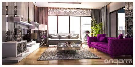 Origami Mobilya – Salon Tasarımı: eklektik tarz tarz Oturma Odası