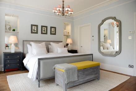 Family Home: scandinavian Bedroom by Ruth Noble Interiors