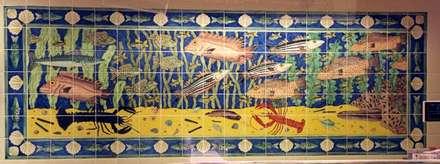 Waitrose fish panel:  Shopping Centres by Reptile tiles & ceramics