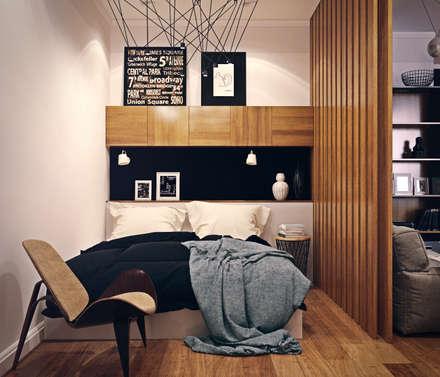 дизайн квартиры 50м2: Спальни в . Автор – sreda