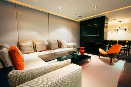 Départamento Vidalta: Salas de estilo moderno por Concepto Taller de Arquitectura