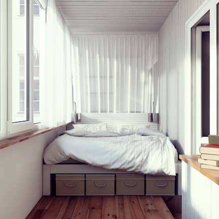 scandinavian Bedroom by sreda