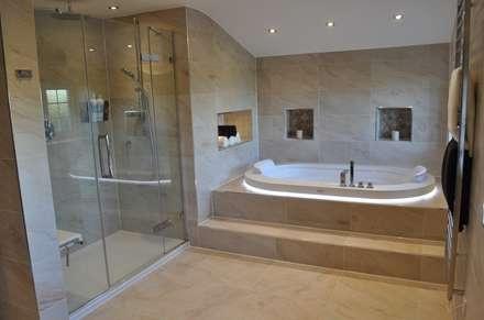 Bath & Shower View 2: modern Bathroom by Daman of Witham Ltd