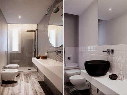 bagni: Bagno in stile in stile Moderno di studiooxi