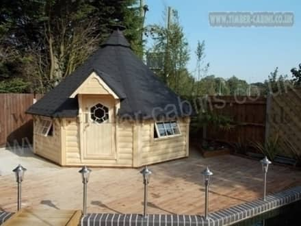 Kota grill BBQ cabin: colonial Garden by Hallgate Timber