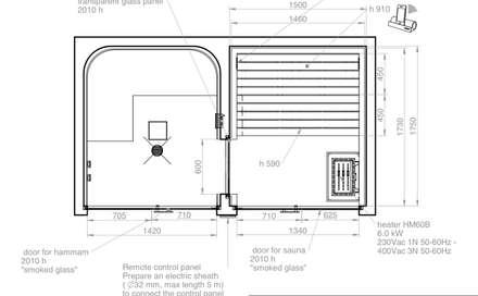Spa de estilo moderno por Steam and Sauna Innovation