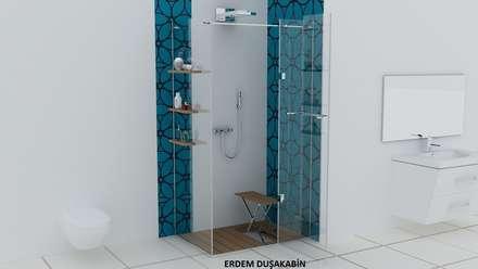 Erdem Duşakabin Tasarım Atölyesi – Teknesiz cam duşakabin uygulaması: modern tarz Banyo