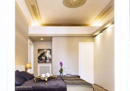 Casa privata BARI. QUARTIERE MURAT, Palazzo primi anni '20.: Camera da letto in stile in stile Classico di Azzurra Garzone architetto