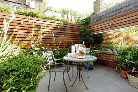 Open-Plan Kitchen/Living Room, Ladbroke Walk, London : modern Garden by Cue & Co of London