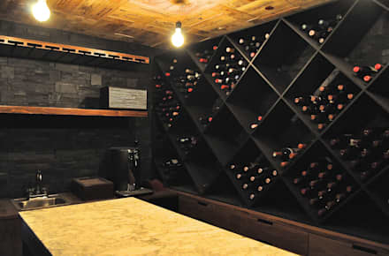 modern Wine cellar by DF ARQUITECTOS