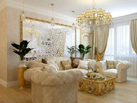 Квартира на ул.Звездная: Гостиная в . Автор – Студия дизайна интерьера Маши Марченко