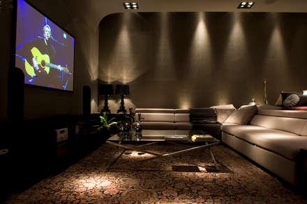modern Media room by dsgnduo