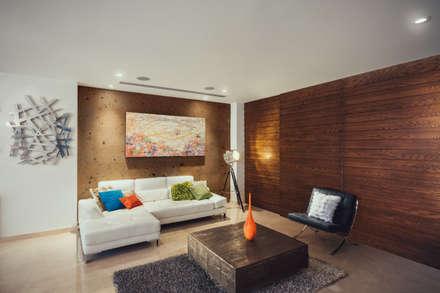 Residencia R53: Salas de estilo moderno por Imativa Arquitectos