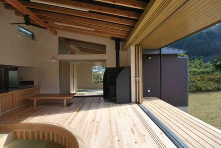 茶畑の家: 原 空間工作所 HARA Urban Space Factoryが手掛けたリビングです。