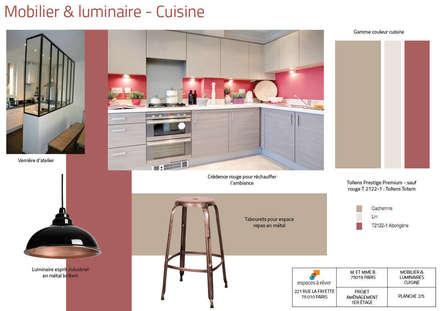 Planche mobilier cuisine: Cuisine de style de style Industriel par Espaces à Rêver