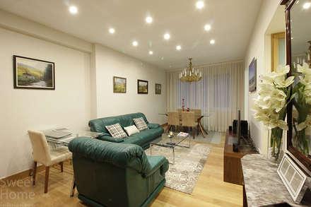 Vivienda en Santutxu, Bilbao: Salones de estilo ecléctico de Sweet Home Interiorismo