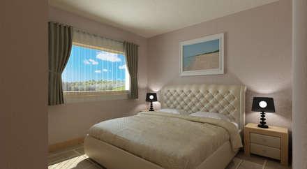 Villa Il Poggio - Interno: Camera da letto in stile in stile Mediterraneo di De Vivo Home Design