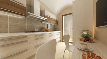 AD Loft - Interno: Cucina in stile in stile Eclettico di De Vivo Home Design