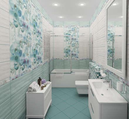Санузел гостевой в загородном коттедже: Ванные комнаты в . Автор – Гурьянова Наталья