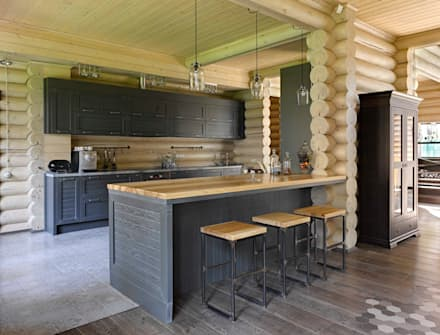 rustic Kitchen by Lavka-design дизайн бюро