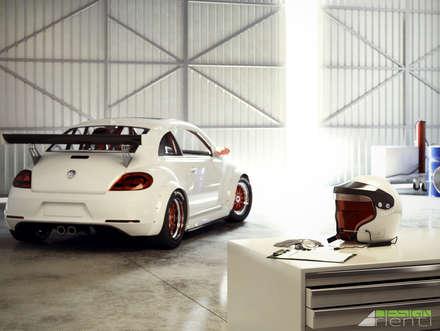 It's time to go: Garage/Rimessa in stile in stile Industriale di Arienti Design