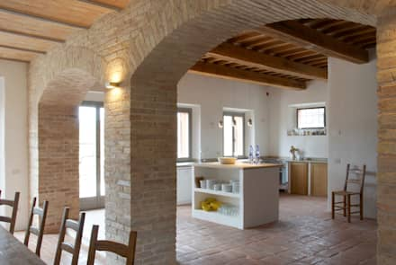 Blick Vom Essbereich Auf Die Küche : Mediterrane Küche Von V. Bismarck  Architekt