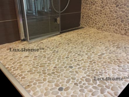 Bathroom ideas - Beige Pebbles mosaic manufacturer / producer & Exporter:  Walls by Lux4home™ Indonesia