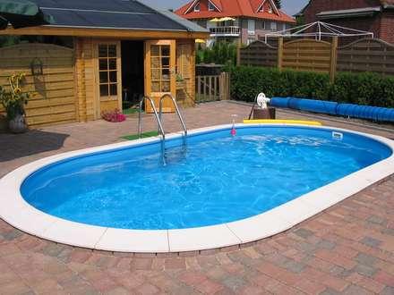Stahlwandbecken Toscana: klassischer Pool von hobby pool technologies GmbH