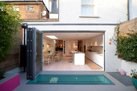 Rear Extension; Kitchen Ground Floor: scandinavian Houses by Gullaksen Architects