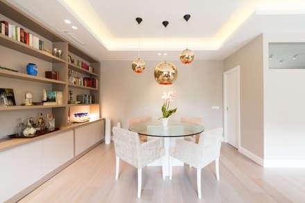 piso moderno barcelona pedralbes comedores de estilo moderno de lf