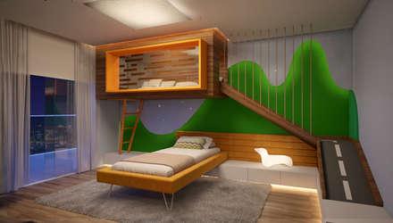 modern Nursery/kid's room by CASA DE PROJETOS