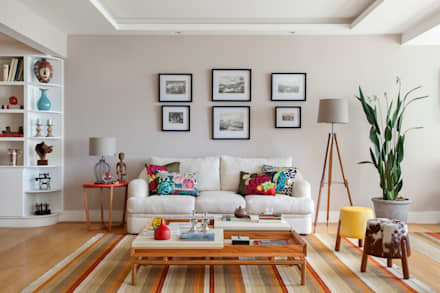 eclectic Living room by Da.Hora Arquitetura