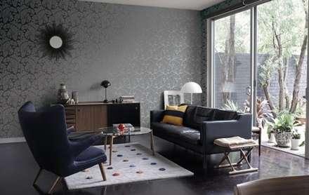 4 Duvar İthal Duvar Kağıtları & Parke – Uygulamalar: modern tarz Oturma Odası