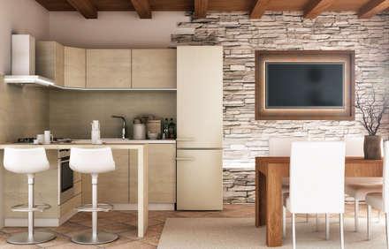 Appartamento ad Asiago (VI) - Italia: Cucina in stile in stile Rustico di redesign lab