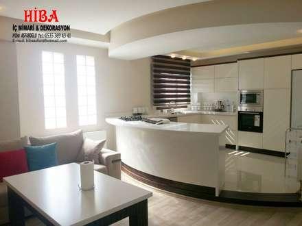 Hiba iç mimari ve dekorasyon – Ali Dablan Evi: modern tarz Mutfak