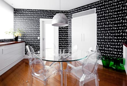 VNC APARTAMENTO : Salas de jantar modernas por Noura van Dijk Interior Design