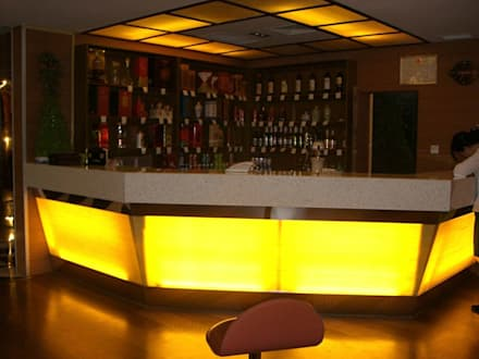 Faux Alabaster Projects Across China:  Bars & clubs by ShellShock Designs