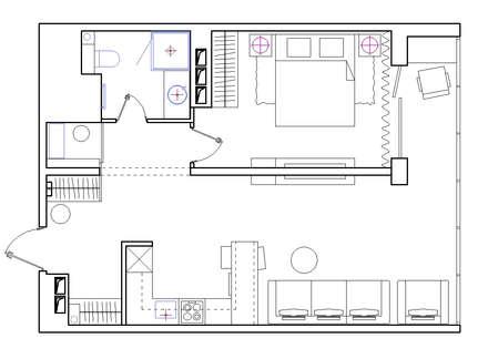 План помещений: Окна в . Автор – ART-INTERNO