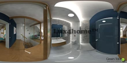 Pebble Wall: tropical Bathroom by Lux4home™ Indonesia