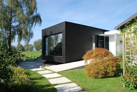 Hauszugang: moderne Häuser von schroetter-lenzi Architekten