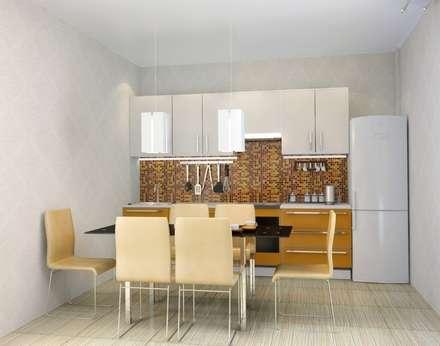 3-х комнатная квартира 112.60m²: Кухни в . Автор – PLANiUM