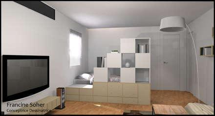 Chambre Etudiant: Chambre de style de style Moderne par Francine Soher