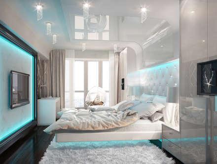 Сочетание стилей в спальне: Спальни в . Автор – DIZajio
