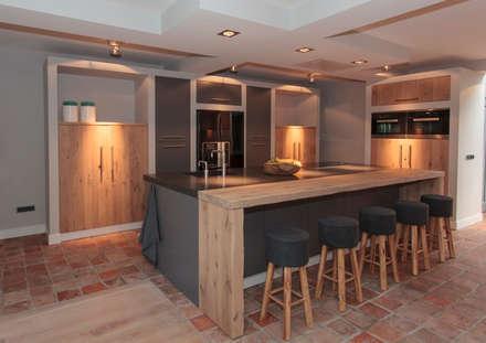 Combinatie: moderne Keuken door Thijs van de Wouw keuken- en interieurbouw